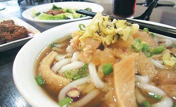 「元记牛肉瀨粉」主打干捞牛肉粉,也有牛肉汤赖粉供选择。