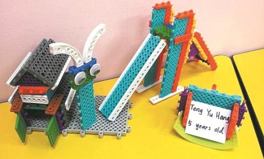迈乐博6面非对称环保模块,让幼儿以较轻鬆的方堆叠出各类用品。