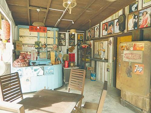 充滿懷舊味道的茶室。
