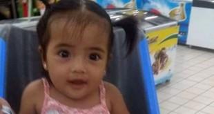 在住所内被掳走的八个月大女婴。